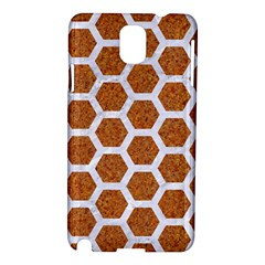 Hexagon2 White Marble & Rusted Metal Samsung Galaxy Note 3 N9005 Hardshell Case by trendistuff