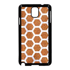 Hexagon2 White Marble & Rusted Metal Samsung Galaxy Note 3 Neo Hardshell Case (black) by trendistuff