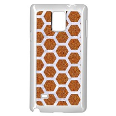 Hexagon2 White Marble & Rusted Metal Samsung Galaxy Note 4 Case (white) by trendistuff