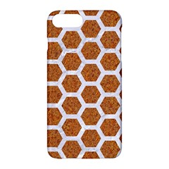 Hexagon2 White Marble & Rusted Metal Apple Iphone 7 Plus Hardshell Case by trendistuff
