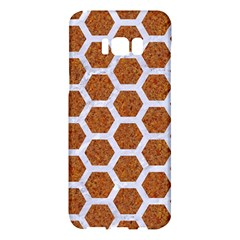 Hexagon2 White Marble & Rusted Metal Samsung Galaxy S8 Plus Hardshell Case  by trendistuff