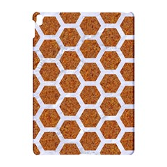 Hexagon2 White Marble & Rusted Metal Apple Ipad Pro 10 5   Hardshell Case by trendistuff
