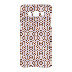 Hexagon1 White Marble & Rusted Metal (r) Samsung Galaxy A5 Hardshell Case  by trendistuff