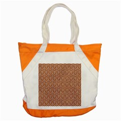 Hexagon1 White Marble & Rusted Metal Accent Tote Bag by trendistuff