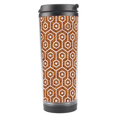 Hexagon1 White Marble & Rusted Metal Travel Tumbler by trendistuff
