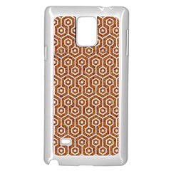 Hexagon1 White Marble & Rusted Metal Samsung Galaxy Note 4 Case (white) by trendistuff