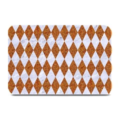 Diamond1 White Marble & Rusted Metal Plate Mats by trendistuff