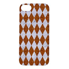 Diamond1 White Marble & Rusted Metal Apple Iphone 5s/ Se Hardshell Case by trendistuff