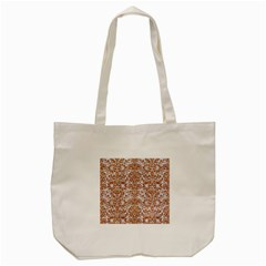 Damask2 White Marble & Rusted Metal (r) Tote Bag (cream) by trendistuff