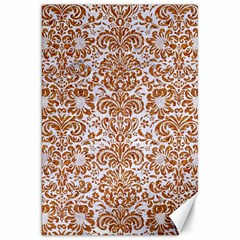 Damask2 White Marble & Rusted Metal (r) Canvas 20  X 30   by trendistuff