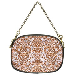 Damask2 White Marble & Rusted Metal (r) Chain Purses (one Side)  by trendistuff