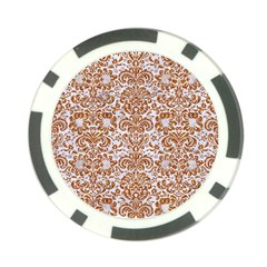 Damask2 White Marble & Rusted Metal (r) Poker Chip Card Guard (10 Pack) by trendistuff