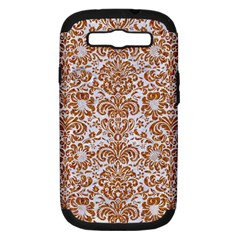 Damask2 White Marble & Rusted Metal (r) Samsung Galaxy S Iii Hardshell Case (pc+silicone) by trendistuff