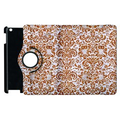 Damask2 White Marble & Rusted Metal (r) Apple Ipad 2 Flip 360 Case by trendistuff