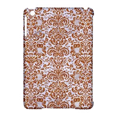 Damask2 White Marble & Rusted Metal (r) Apple Ipad Mini Hardshell Case (compatible With Smart Cover) by trendistuff