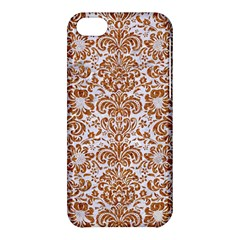 Damask2 White Marble & Rusted Metal (r) Apple Iphone 5c Hardshell Case by trendistuff