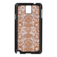 Damask2 White Marble & Rusted Metal (r) Samsung Galaxy Note 3 N9005 Case (black) by trendistuff