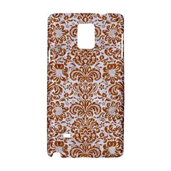 Damask2 White Marble & Rusted Metal (r) Samsung Galaxy Note 4 Hardshell Case by trendistuff