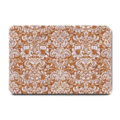 Damask2 White Marble & Rusted Metal Small Doormat  by trendistuff