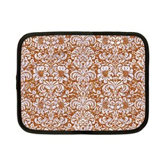Damask2 White Marble & Rusted Metal Netbook Case (small)  by trendistuff