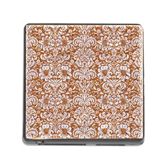 Damask2 White Marble & Rusted Metal Memory Card Reader (square) by trendistuff