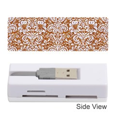 Damask2 White Marble & Rusted Metal Memory Card Reader (stick)  by trendistuff