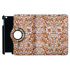 Damask2 White Marble & Rusted Metal Apple Ipad 2 Flip 360 Case