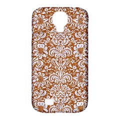 Damask2 White Marble & Rusted Metal Samsung Galaxy S4 Classic Hardshell Case (pc+silicone) by trendistuff