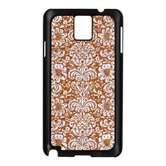Damask2 White Marble & Rusted Metal Samsung Galaxy Note 3 N9005 Case (black) by trendistuff