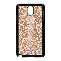 Damask2 White Marble & Rusted Metal Samsung Galaxy Note 3 Neo Hardshell Case (black) by trendistuff