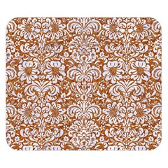 Damask2 White Marble & Rusted Metal Double Sided Flano Blanket (small)  by trendistuff