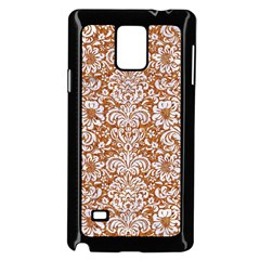 Damask2 White Marble & Rusted Metal Samsung Galaxy Note 4 Case (black) by trendistuff