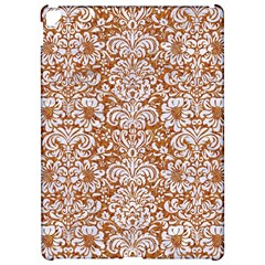 Damask2 White Marble & Rusted Metal Apple Ipad Pro 12 9   Hardshell Case by trendistuff