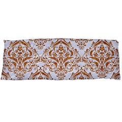 Damask1 White Marble & Rusted Metal (r) Body Pillow Case (dakimakura) by trendistuff