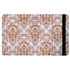 Damask1 White Marble & Rusted Metal (r) Apple Ipad 2 Flip Case by trendistuff