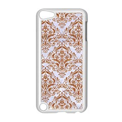 Damask1 White Marble & Rusted Metal (r) Apple Ipod Touch 5 Case (white) by trendistuff