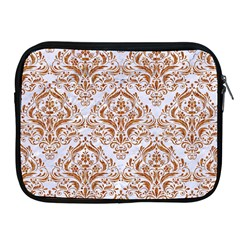 Damask1 White Marble & Rusted Metal (r) Apple Ipad 2/3/4 Zipper Cases by trendistuff