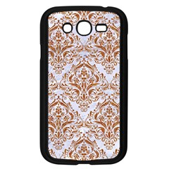 Damask1 White Marble & Rusted Metal (r) Samsung Galaxy Grand Duos I9082 Case (black) by trendistuff
