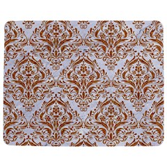 Damask1 White Marble & Rusted Metal (r) Jigsaw Puzzle Photo Stand (rectangular) by trendistuff