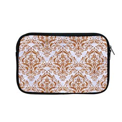 Damask1 White Marble & Rusted Metal (r) Apple Macbook Pro 13  Zipper Case by trendistuff