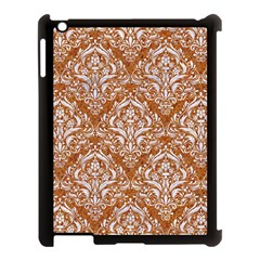 Damask1 White Marble & Rusted Metal Apple Ipad 3/4 Case (black) by trendistuff