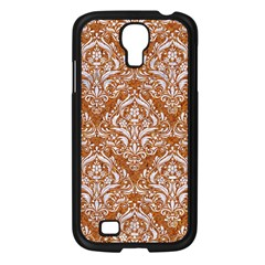 Damask1 White Marble & Rusted Metal Samsung Galaxy S4 I9500/ I9505 Case (black) by trendistuff
