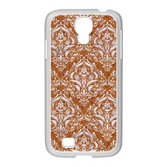 Damask1 White Marble & Rusted Metal Samsung Galaxy S4 I9500/ I9505 Case (white) by trendistuff