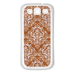 Damask1 White Marble & Rusted Metal Samsung Galaxy S3 Back Case (white) by trendistuff