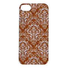 Damask1 White Marble & Rusted Metal Apple Iphone 5s/ Se Hardshell Case by trendistuff
