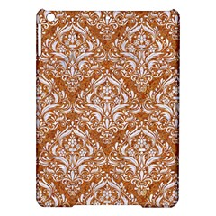 Damask1 White Marble & Rusted Metal Ipad Air Hardshell Cases by trendistuff