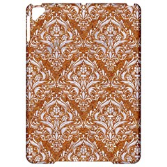 Damask1 White Marble & Rusted Metal Apple Ipad Pro 9 7   Hardshell Case by trendistuff