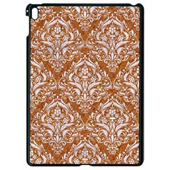 Damask1 White Marble & Rusted Metal Apple Ipad Pro 9 7   Black Seamless Case by trendistuff