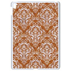 Damask1 White Marble & Rusted Metal Apple Ipad Pro 9 7   White Seamless Case by trendistuff