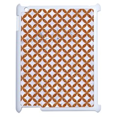 Circles3 White Marble & Rusted Metal (r) Apple Ipad 2 Case (white) by trendistuff